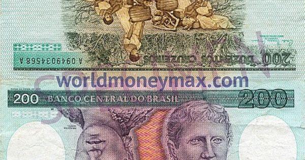 200 Brazilian Cruzeiro 1984 Com Imagens Cruzeiro Notas Papel
