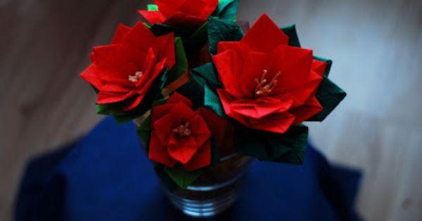 Gwiazda Betlejemska Z Bibuly Marszczonej Diy And Crafts Poinsettia Crafts