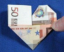 Geldschein Zu Herz Falten Schritt 4 Geldscheine Falten Herz