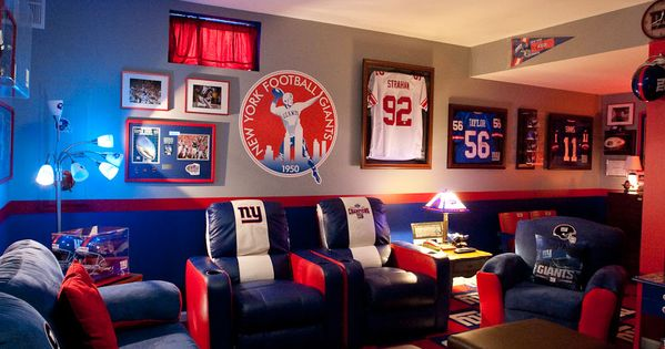 New York Giants Mancave My Dream House Will Have This Just For When Me And My Dad Want To Watch