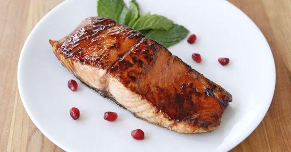 Pomegranates, Glazed salmon and Salmon on Pinterest