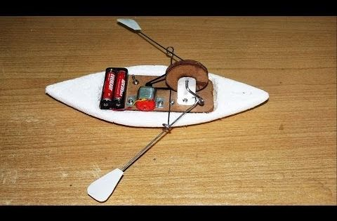 How To Make A Toy Rowing Boat Youtube Robot