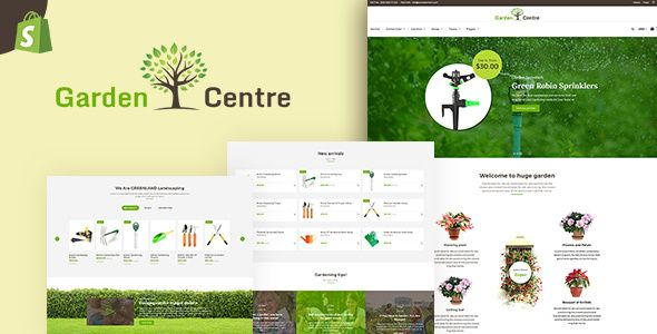 Garden Plants Gardening Store Landscaping Service Shopify Theme