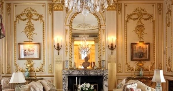 Luxe Design Gilded Millwork Living Room Home Decor