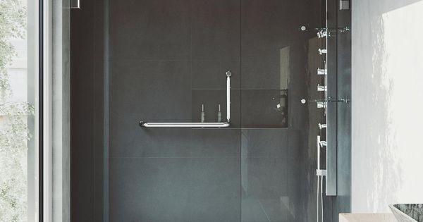 Vigo Pirouette 48 To 54 In X 72 In Frameless Pivot Shower Door