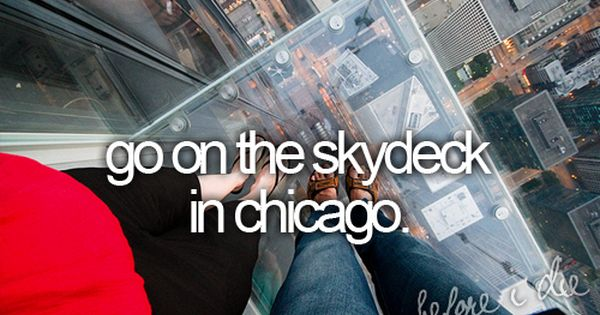 I live in Chicago and I havent been on the ledge yet.