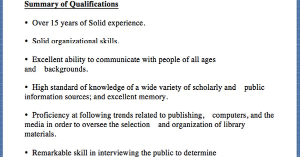 Sample Librarian Resume Type your address here, Type your address - public information specialist sample resume