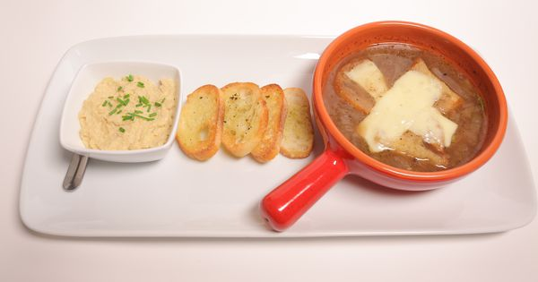 Garlic hummus, French onion soups and French onion on Pinterest