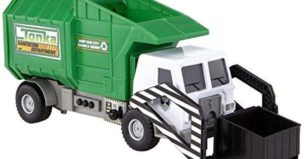 Tonka Mighty Motorized Garbage Ffp Truck Tonka Https Www Amazon Com Dp B01earlem6 Ref Cm Sw R Pi Dp X Z6glybs3ty3q2 Garbage Truck Toy Trucks Trucks