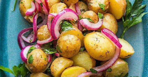 Fingerling Potatoes with Herb Vinaigrette | Yummy | Pinterest ...