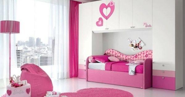 M dchenzimmer m bel rosa wei barbie ponte trendy doimo - Besondere kinderbetten ...