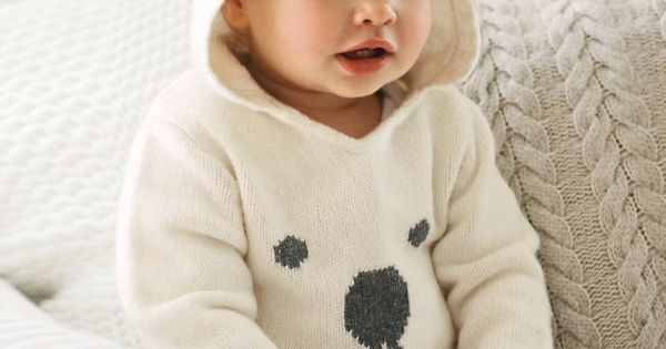 Baby Bear Hooded Sweater from The White Company