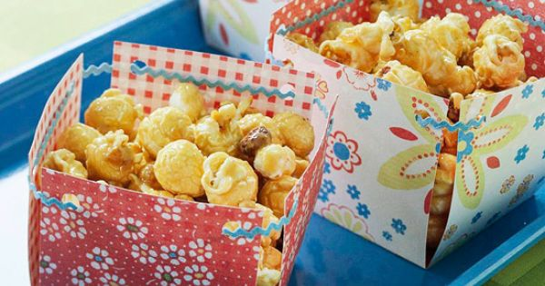 "Sweet Treat Boxes Cut two 3x9"" strips of double-sided scrapbook paper, overlap"