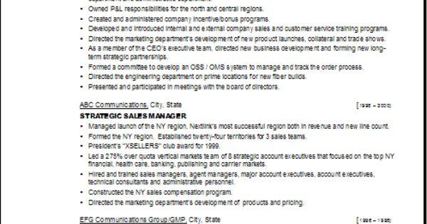 vp sales exle resume u3 business skills