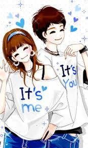Cartoon Korean Couple Wedding Illustration Cute Wallpapers Anime Love