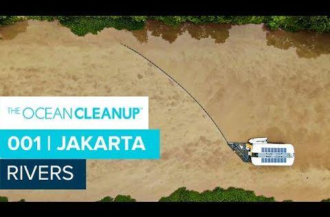 Rivers Interceptor 001 Cleaning In Jakarta Youtube Ocean Cleanup River Ocean