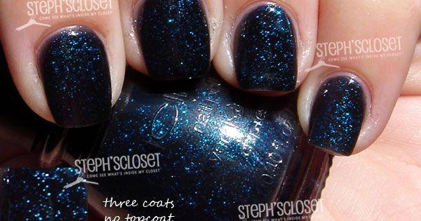 Icing-Blackened Blue Glitter Nail Polish   Wish List 3   Pinterest ...