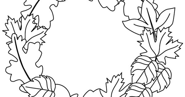 Fall wreath coloring page Free