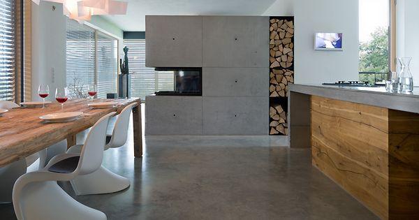 fabi architekten bda regensburg wohnhaus in stallwang wei holz beton pinterest. Black Bedroom Furniture Sets. Home Design Ideas