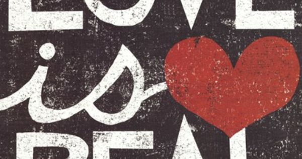 Love Is Real Grunge Square Art Print by Michael Mullan at Art.com