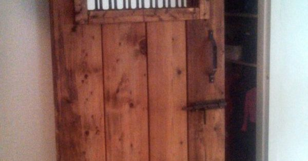 Old Horse Stall Door Turned Into Sliding Door For The