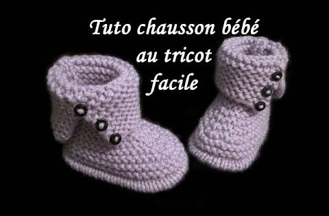 tuto chausson botte bebe au tricot facile baby bootie knitting easy tricot facile tricot and bebe. Black Bedroom Furniture Sets. Home Design Ideas