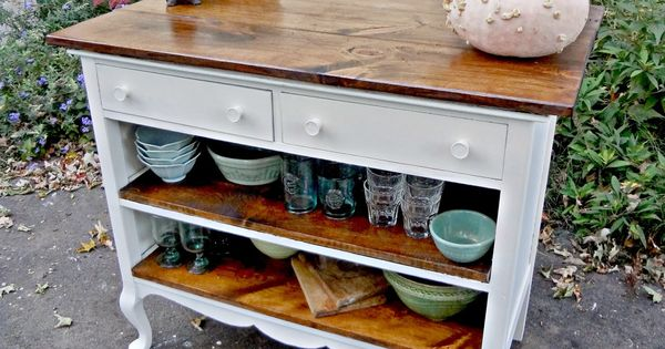 Small Chests Repurposed As Kitchen Island Antique