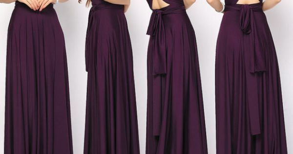 Eggplant Long Prom Dress Convertible Infinity Wrap Dress