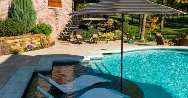 white ledge loungers on a pool tanning ledge backyard pinterest