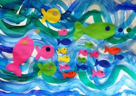 Activit s sur le th me des poissons et de la mer en - Poisson en maternelle ...