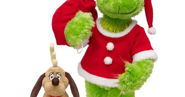 NWT Build A Bear Workshop Grinch w/ Santa Outfit Sound & Max
