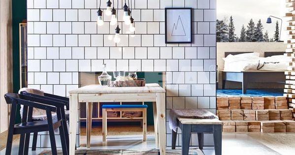 Ameublement Ikea Revient Aux Basiques Esprit Cabane Mobilier De Salon Ikea Table Bois Brut
