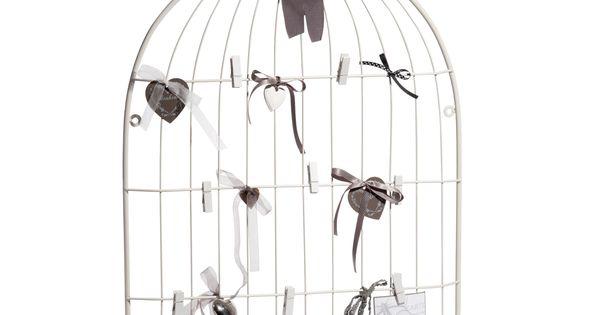 P le m le cage oiseau blanc maison du monde reference - Pele mele photo maison du monde ...