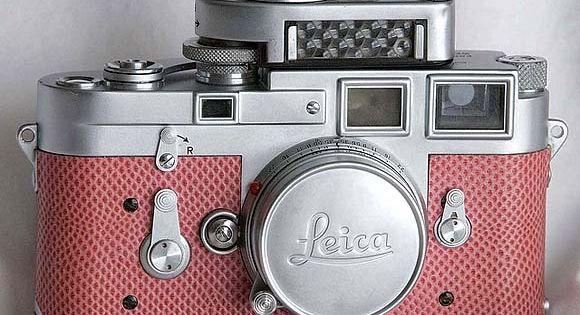 1956 Paradise Pink Snake Skin Leica Camera