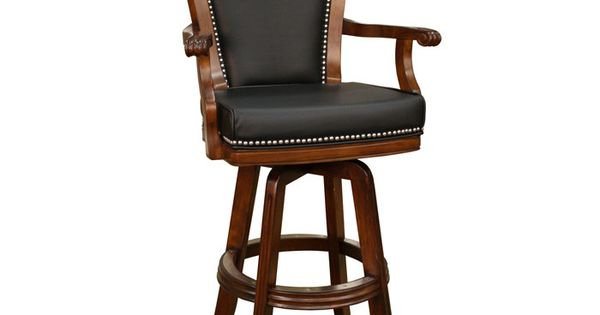 Leather Swivel Bar Stool With Arms Interior Design