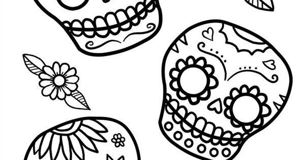 Free printable dia de los muertos coloring sheets for El dia de los muertos coloring pages