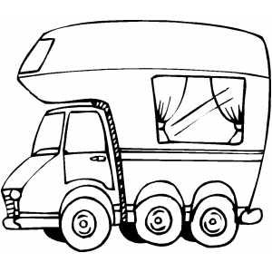 Rv Printable Coloring Page Free To Download And Print Camper Drawing Camper Quilt Camping Quilt
