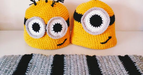Free Crochet Pattern For Minion Scarf : FREE Minions and Gru Scarf pattern! #crochet #halloween # ...