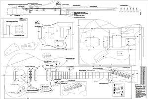 Full Scale Jaguar Plan Byoplan Jag Fender Jaguar Guitar Building Jaguar
