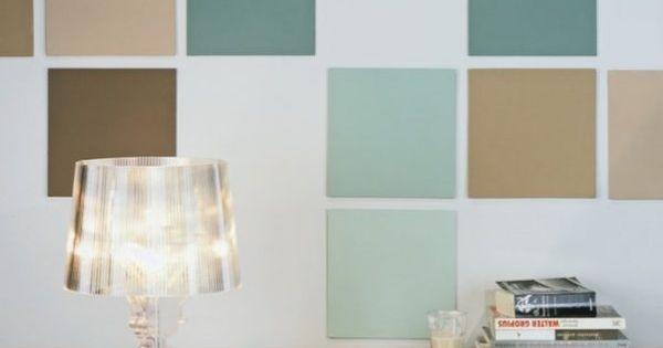 An die Wand gehängt PAINTING Pinterest Wände - wandgestaltung quadrate beispiele