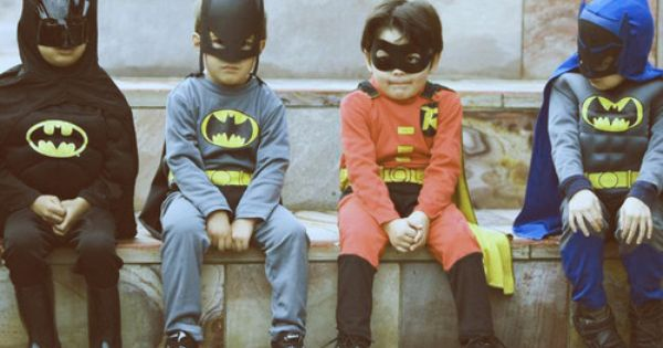"A pinner said, ""My kids went as Batman and Robin to a"