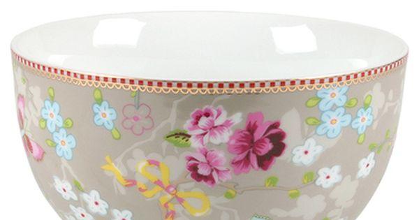 51003006 Pip Studio Porzellan Geschirr Bunt Blumen Dekor Schale Online Kaufen Geschirr Bunt Porzellan Porzellan Geschirr