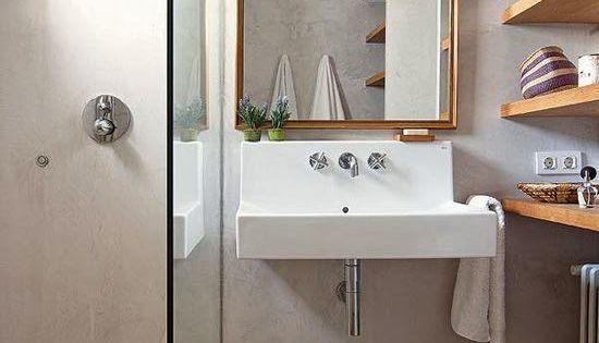 Apuesta por lavabos suspendidos que no recarguen tanto el for Lavabos suspendidos