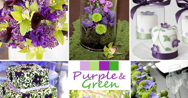 Wedding Colors, Purple and Green make a beautiful choice! weddingplanning, weddingcolors, purpleandgreenwedding
