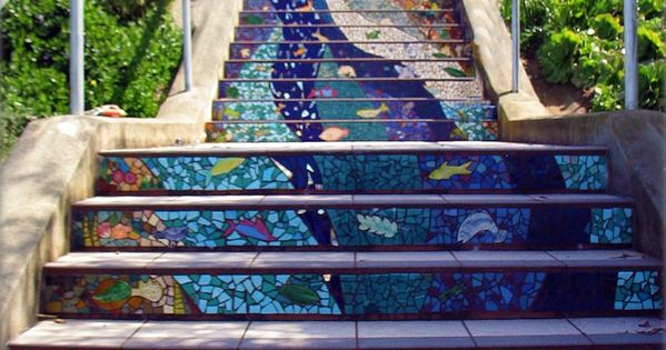 fer1972: The colorful stairs of Streetartutopia