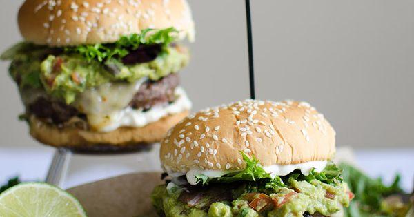 Spicy Guacamole Burger with Jalapeno Mayo | Recipe | Guacamole Burger ...