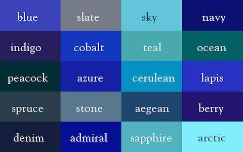 18 Tonalidades de azul