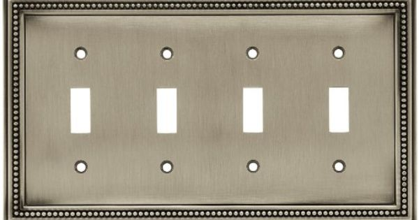 brainerd 64774 beaded quad switch wall plate switch plate cover. Black Bedroom Furniture Sets. Home Design Ideas