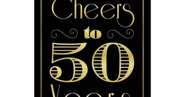 Cheers To 50 Years 50th Birthday 50th Anniversary 50th