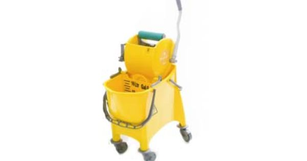 Divided Bucket With Bottomless Side Press Wringer Mop